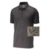 Bone Frog Iron Gray/Black Ombre Heather Polo