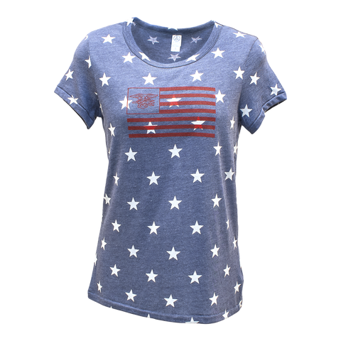 Ladies STARS Tee with Trident in Flag - UDT-SEAL Store  - 2