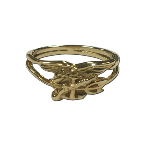 14K Yellow Gold Ladies Trident Ring - UDT-SEAL Store  - 1