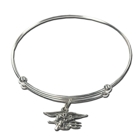 Ladies Bangle Bracelet with SS Trident - UDT-SEAL Store