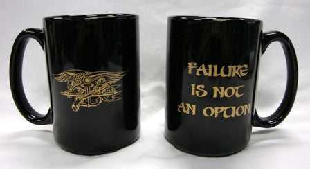 Black with Gold 15oz Ceramic Coffee Mug - UDT-SEAL Store  - 2
