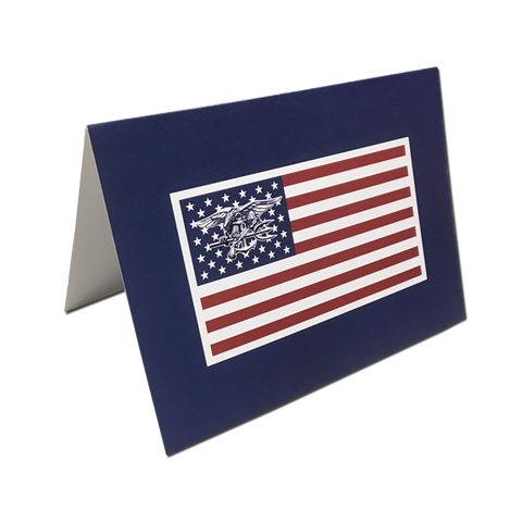 Trident Flag Note Cards - UDT-SEAL Store  - 1