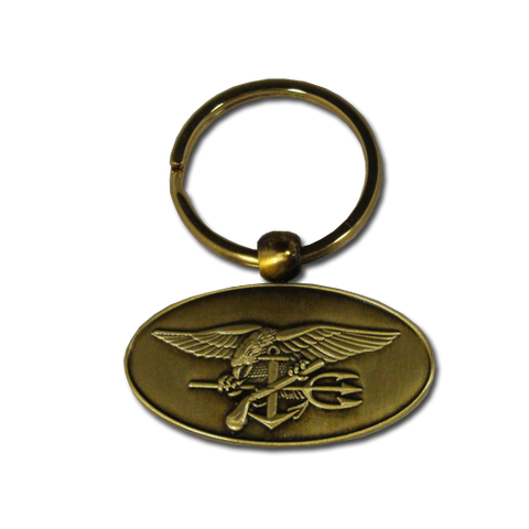 Trident Oval 3D Key Ring