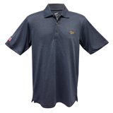Trident Men's Heather Navy Pique Polo