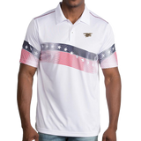 Men's Trident Patriot White Polo