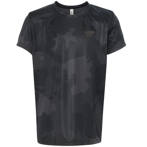 Trident Youth Graphite Camo Performance Short Sleeve Tee