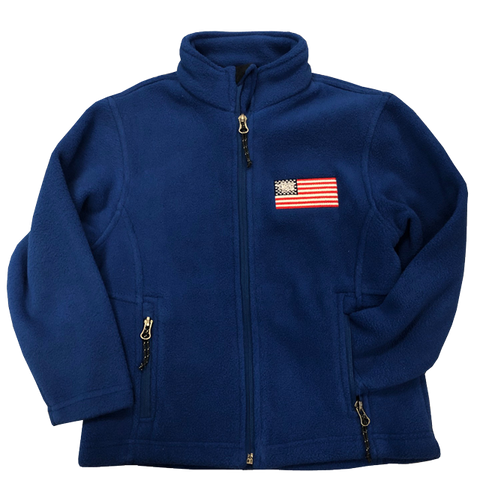 Youth American Flag with Trident Fleece Jacket