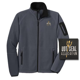 UDT SEAL Association Grey Full-Zip Fleece Jacket