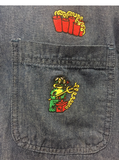 Freddy the Frog with Dynamite DARK Denim Short Sleeve Shirt