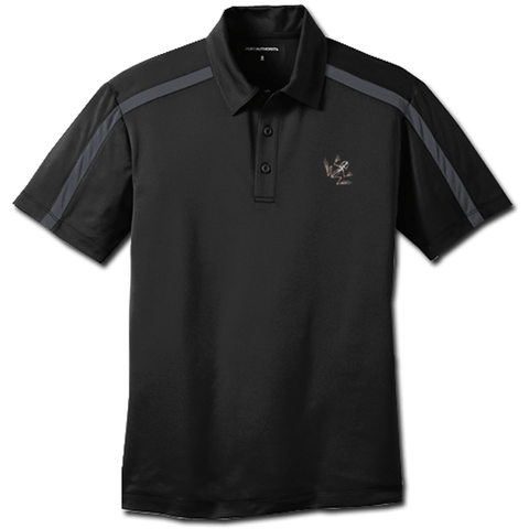 Bone Frog Port Authority Silk Touch Performance Black Polo Shirt