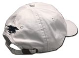 Ladies White Cap with Big Flag and Trident