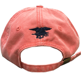 Ladies Coral Cap with Big Flag and Trident