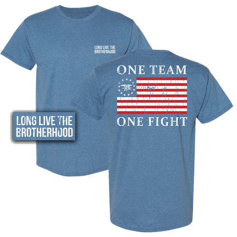 American Flag One Team One Fight Tshirt