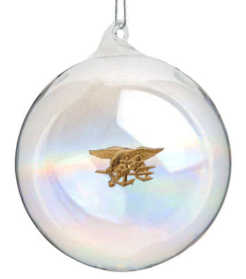 Trident Hand Blown Glass Ornament