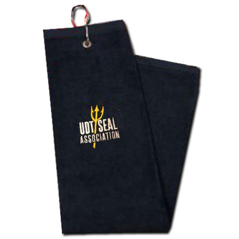UDT SEAL Association Trident Spear Golf Towel