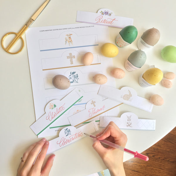 Easter Egg Place cards