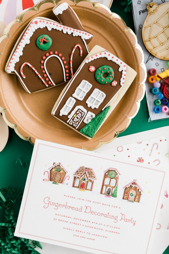 ginger bread cookie decorating party