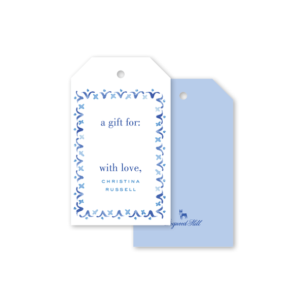 Azulejo Blue Gift Tags