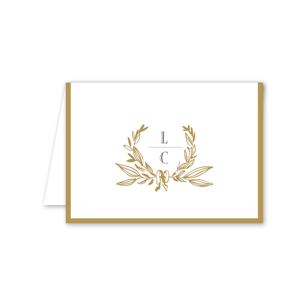 Gild Folded Notecard
