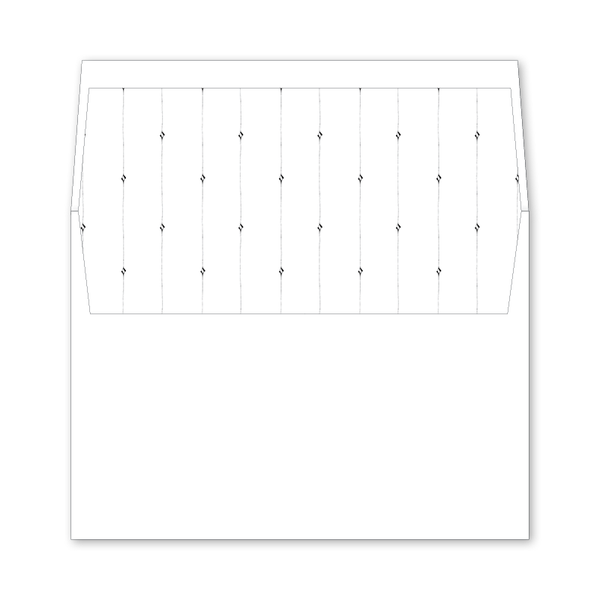 Classic Cross Wedding Invitation Envelope Liner