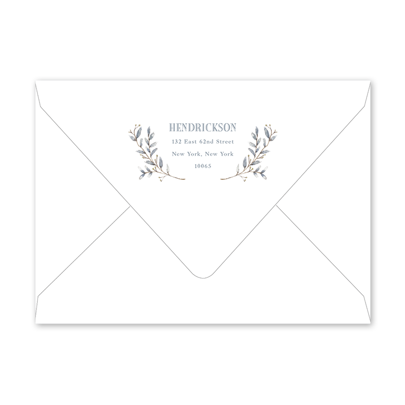 Blue Border Graduation Envelopes