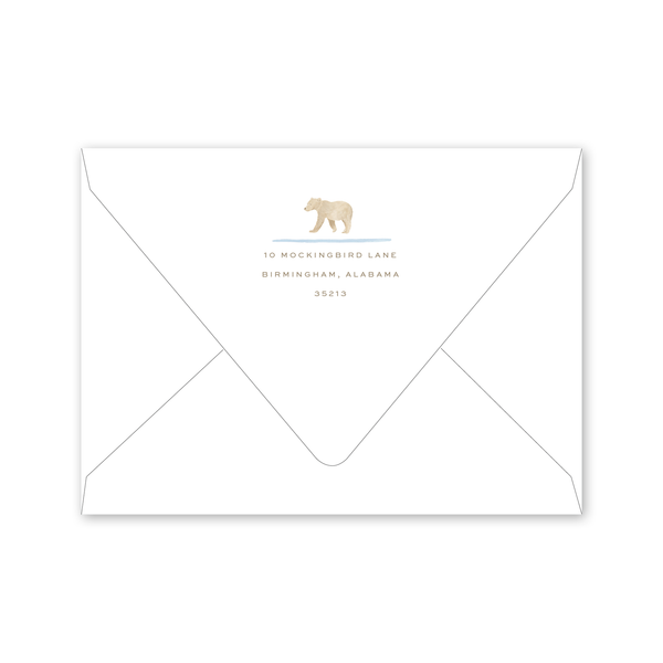 Baby Bear Baby Shower Envelopes