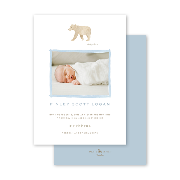 Baby Bear Birth Announcement