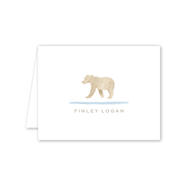 Baby Bear Folded Notecard
