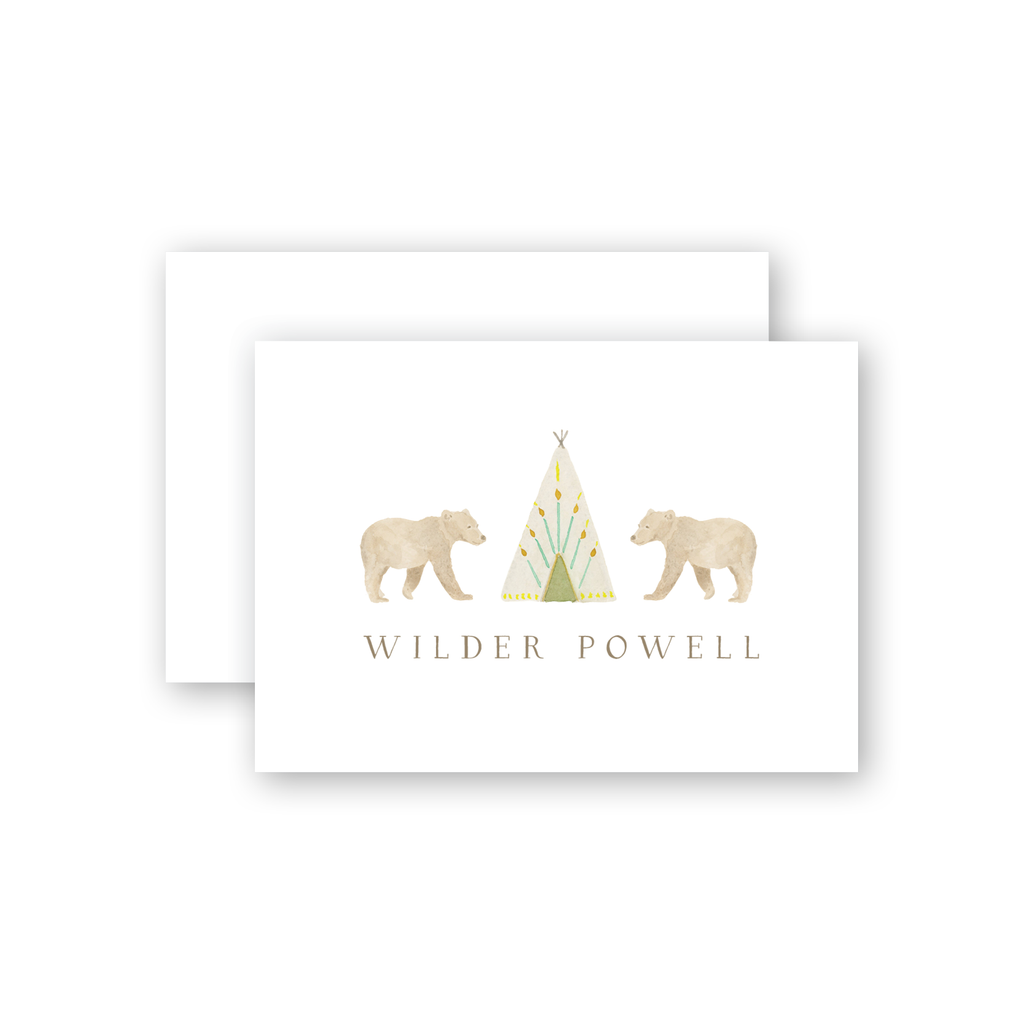 Bears with Teepee Calling Card