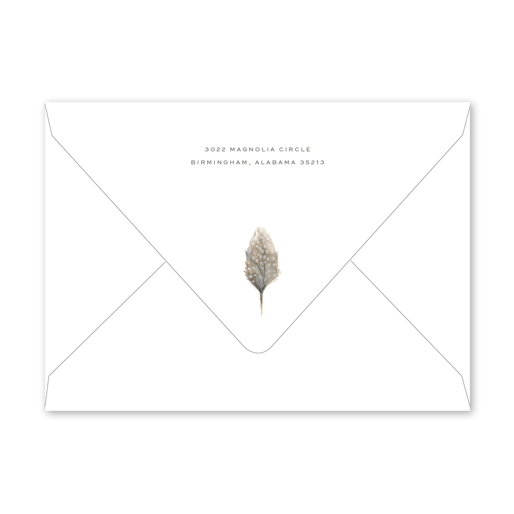 Feather Dinner/Party Envelopes