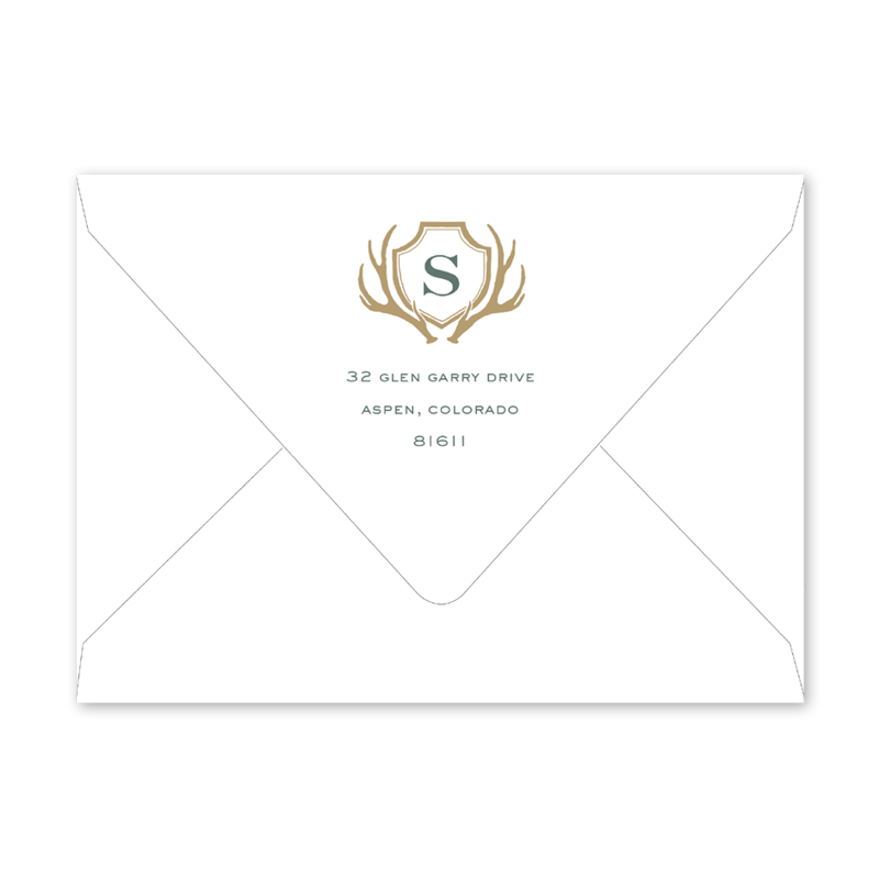 Antler Crest Graduation Envelopes