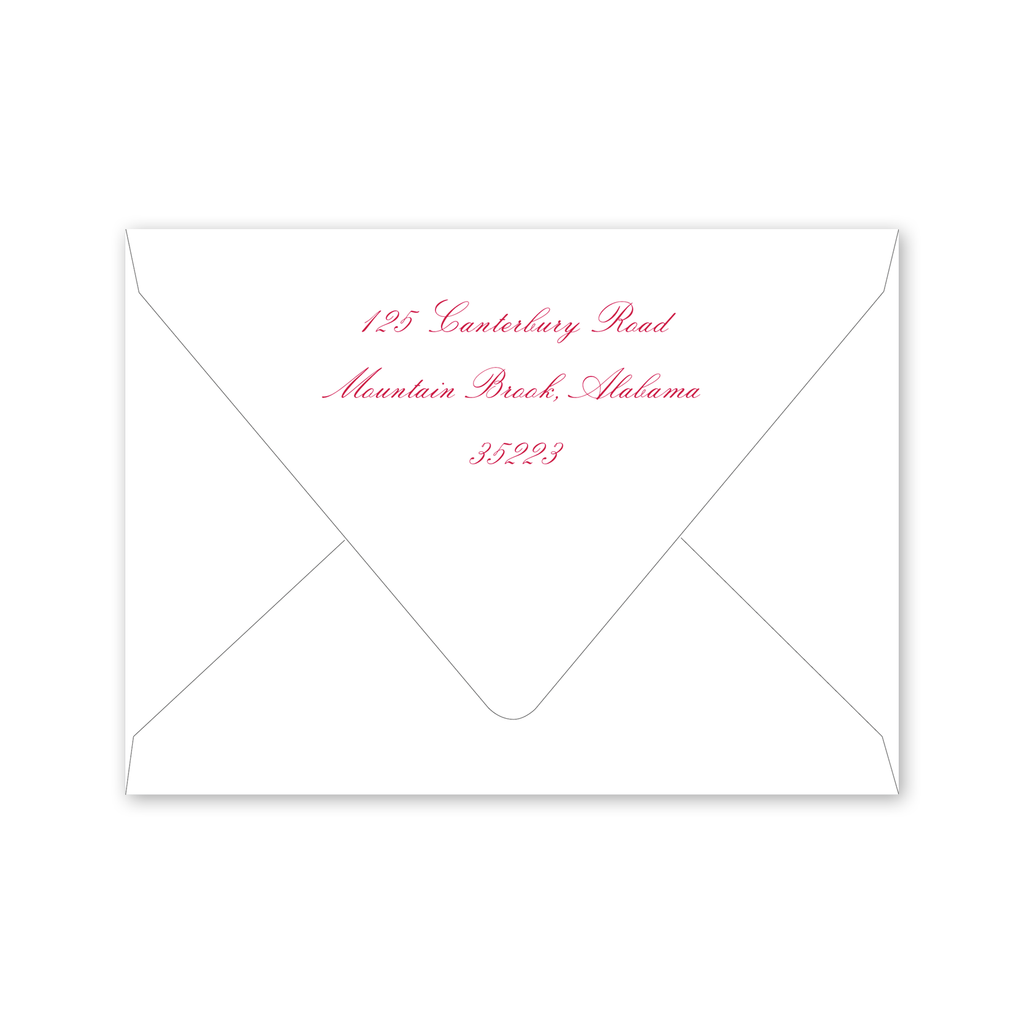 Azalea Bridal Shower Envelopes
