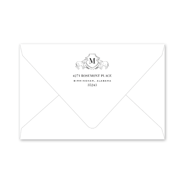 Elephant Crest II Graduation Envelopes