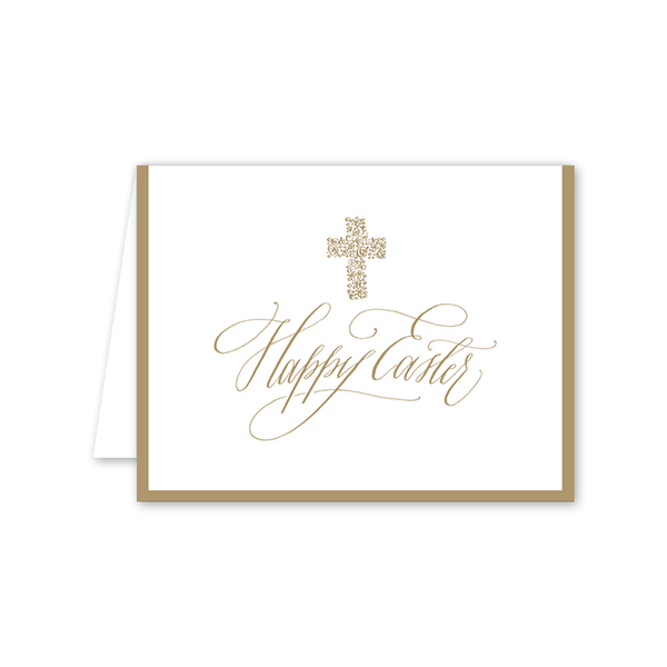 Gold Cross Easter Folded