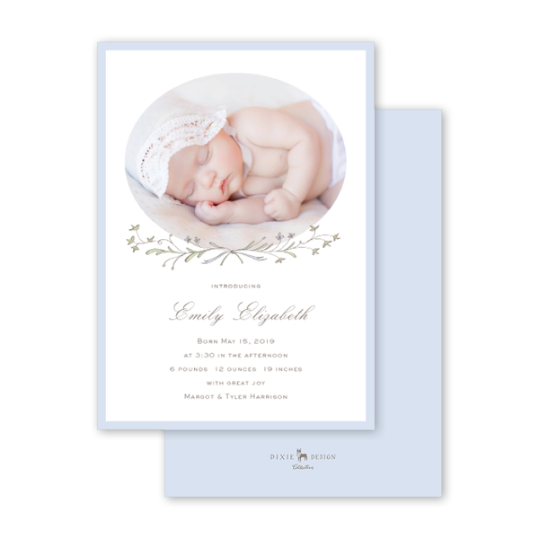 Ivy and Lilac Birth Announcement
