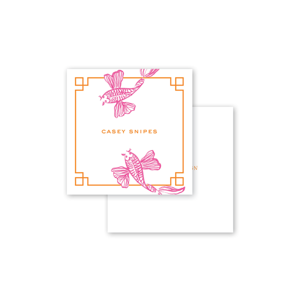 Koi Fish Pink Calling Card