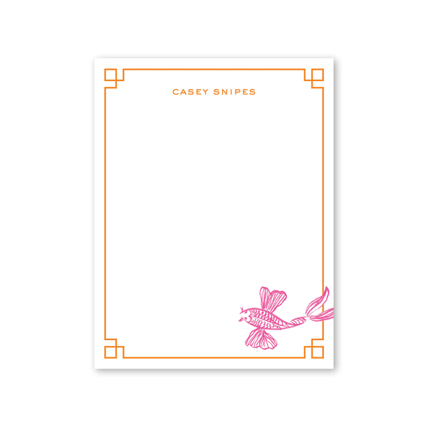 Koi Fish Pink Notepad