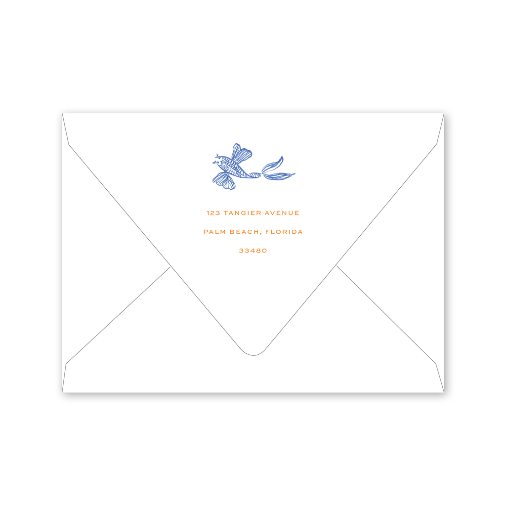 Koi Fish Summer Party Envelopes