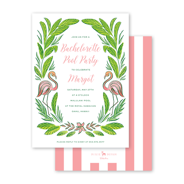 Royal Hawaiian Flamingo Bridal Shower