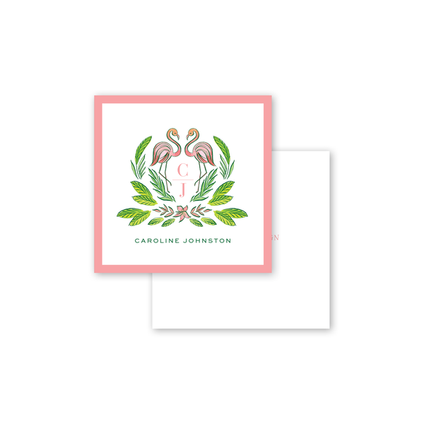 Royal Hawaiian Flamingo Calling Card