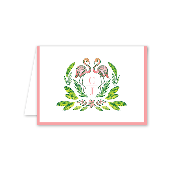Royal Hawaiian Flamingo Folded Notecard