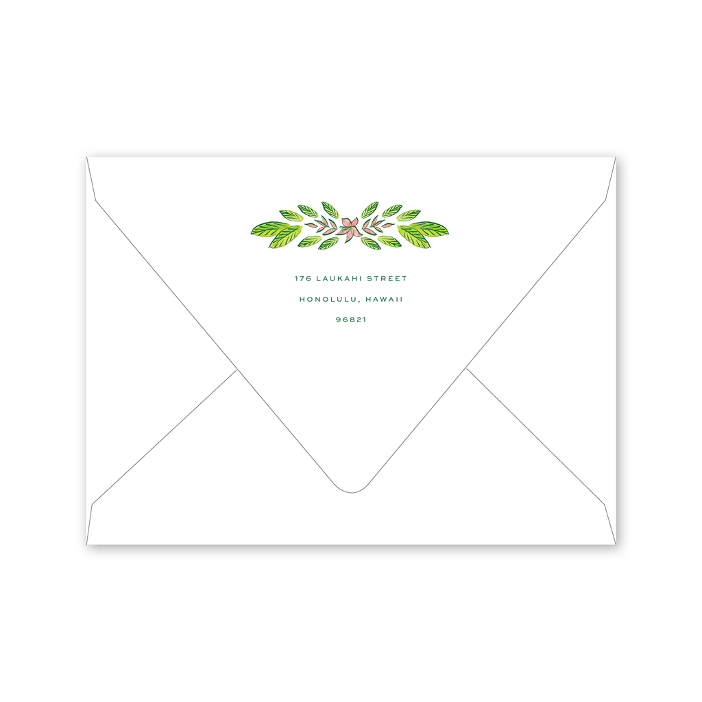 Royal Hawaiian Flamingo Summer Party Envelopes