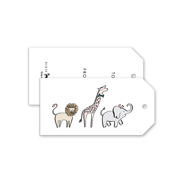 Wild Animals Gift Tags