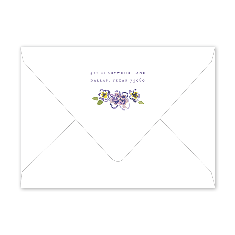 African Violets Graduation Envelopes