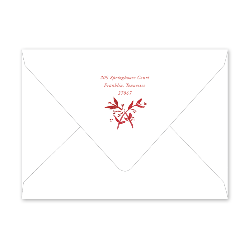Crimson Toile Graduation Envelopes