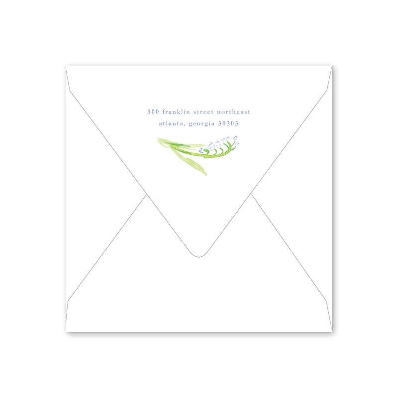 Lily of the Valley Blue Easter Envelopes