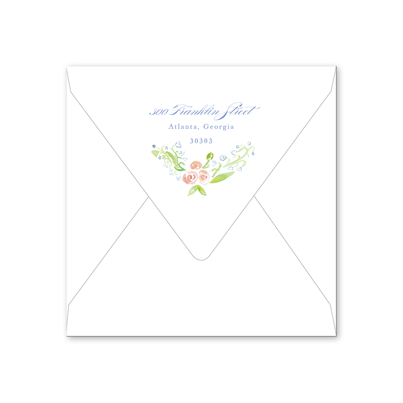 Lily of the Valley Pink Easter Luncheon Envelopes