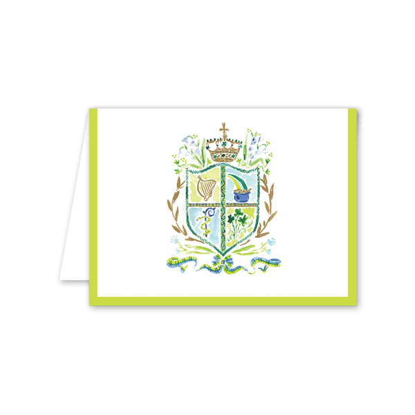 St. Patrick's Day Crest Greeting Card