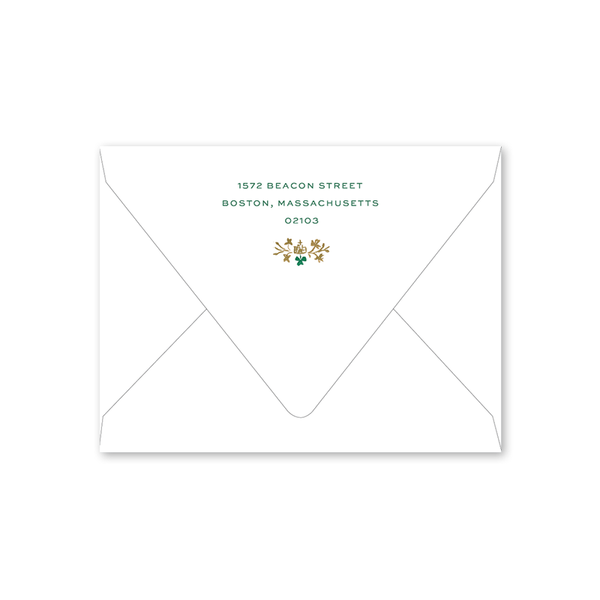 St. Patrick's Day Crest Greeting Card Envelopes