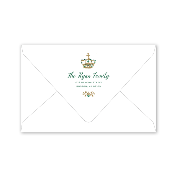 St. Patrick's Day Crest Dinner/Party Envelopes